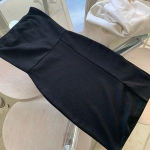 Nasty Gal Dresses - Black front side slit  mini dress